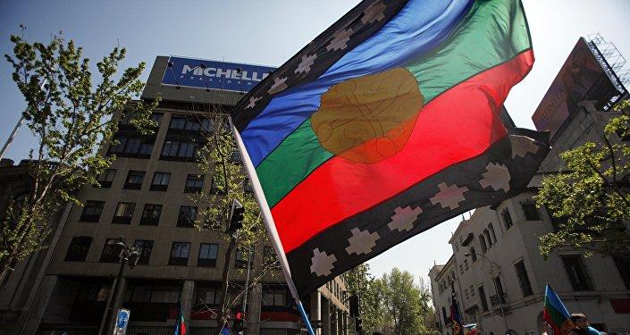 Bandera de mapuches