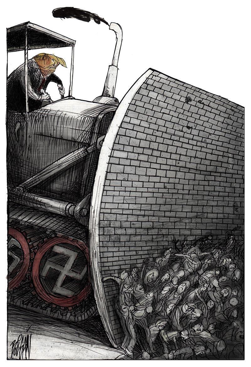 Caricatura de Angel Boligan Corbo (México).