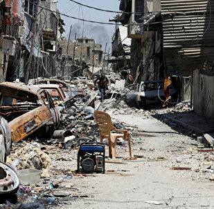La situación en la Ciudad Vieja de Mosul, Irak