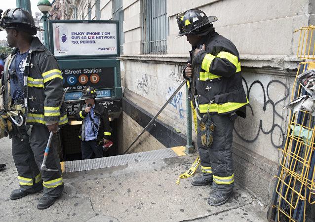 Evacuación del metro en Nueva York