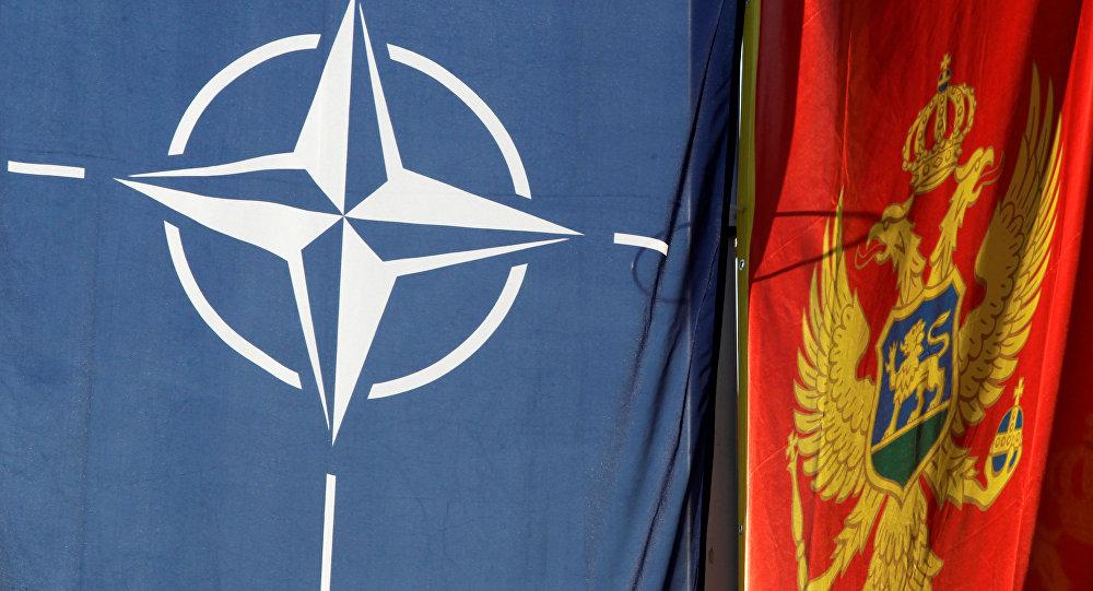 Banderas de Montenegro y de la OTAN