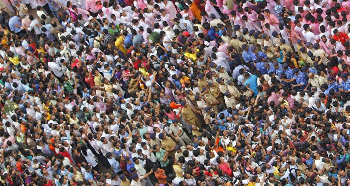 Una fiesta en la India