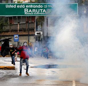 Protestas en Caracas, Venezuela (archivo)