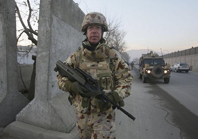 Soldado australiano en Kabul, Afganistán (archivo)
