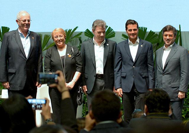 Jefes de Estado miembros de Alianza del Pacífico
