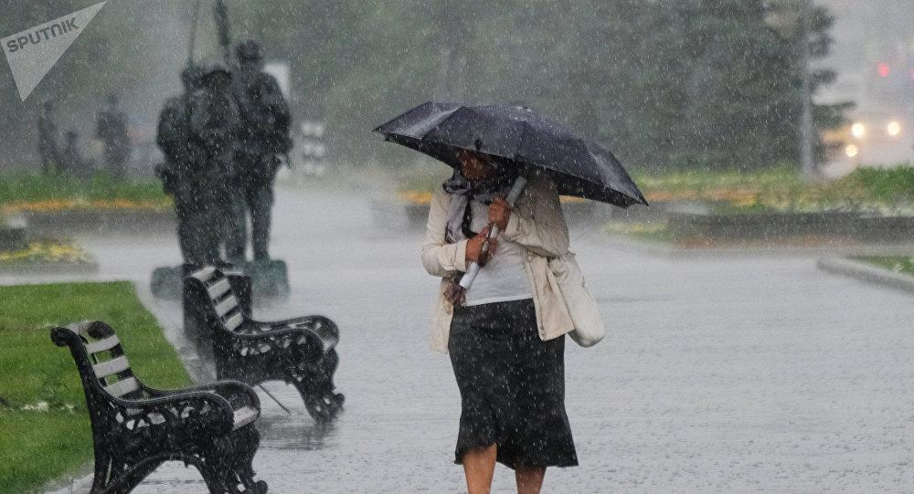 Lluvia en Moscú