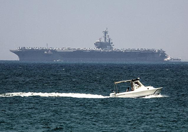 El USS George H.W. Bush atraca en el puerto israelí de Haifa