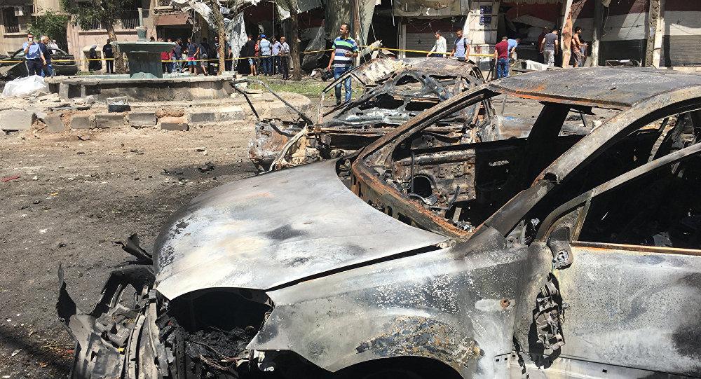 Explosión en Damasco (archivo)