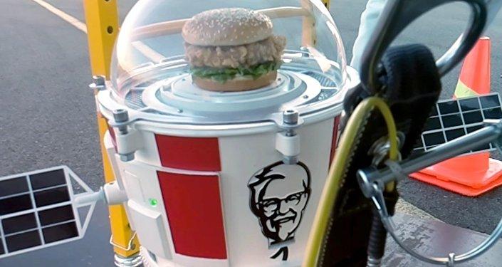 Hamburguesa de KFC vuela hacia la estratosfera