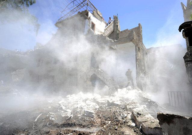 Lugar de ataque en Damasco (imagen referencial)
