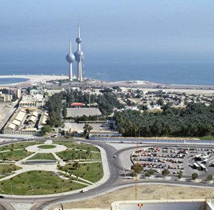 La vista a la ciudad de Kuwait con las torres que la simbolzan