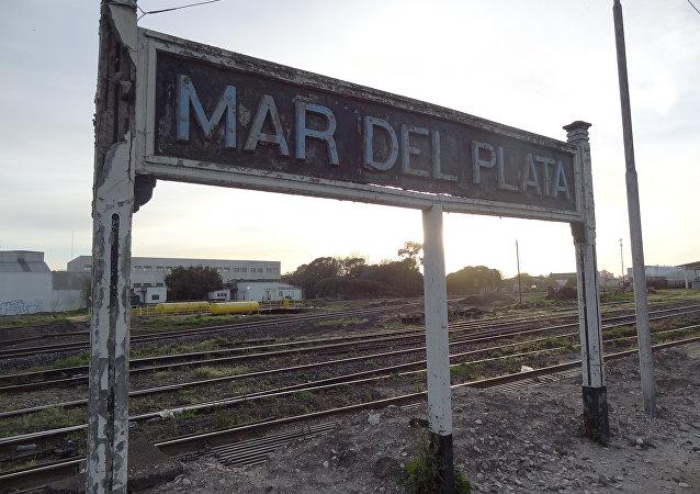 Vieja estación de Mar del Plata (archivo)
