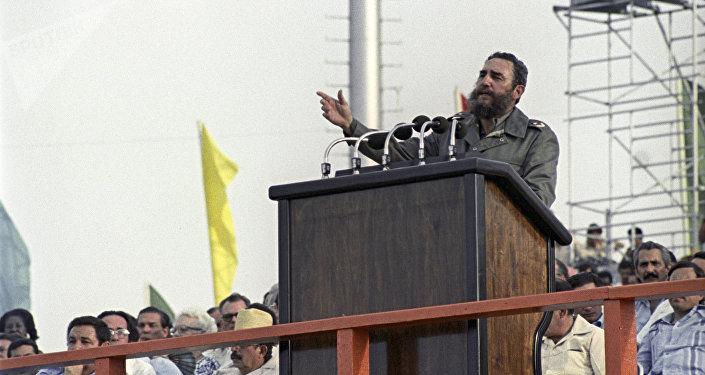 Fidel Castro, líder de la Revolución Cubana, en La Habana (archivo)