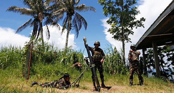 Militares filipinos (archivo)