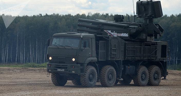El sistema antiaéreo cañón-misil ruso Pantsir-S (archivo)