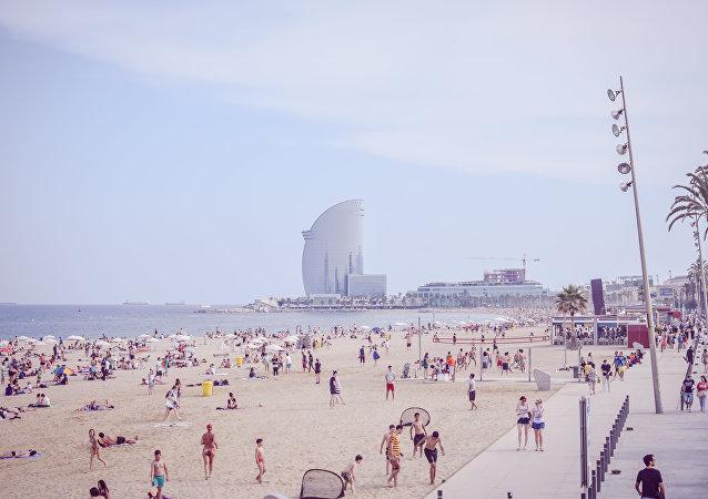 Calor en Barcelona, España (imagen referencial)