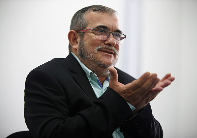 El máximo líder de las FARC, Rodrigo Londoño, alias Timochenko (archivo)