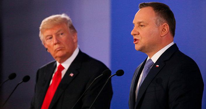 El presidente de Polonia Andrzej Duda y el presidente de EEUU, Donald Trump