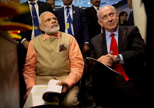 Narendra Modi y Benjamín Netanyahu