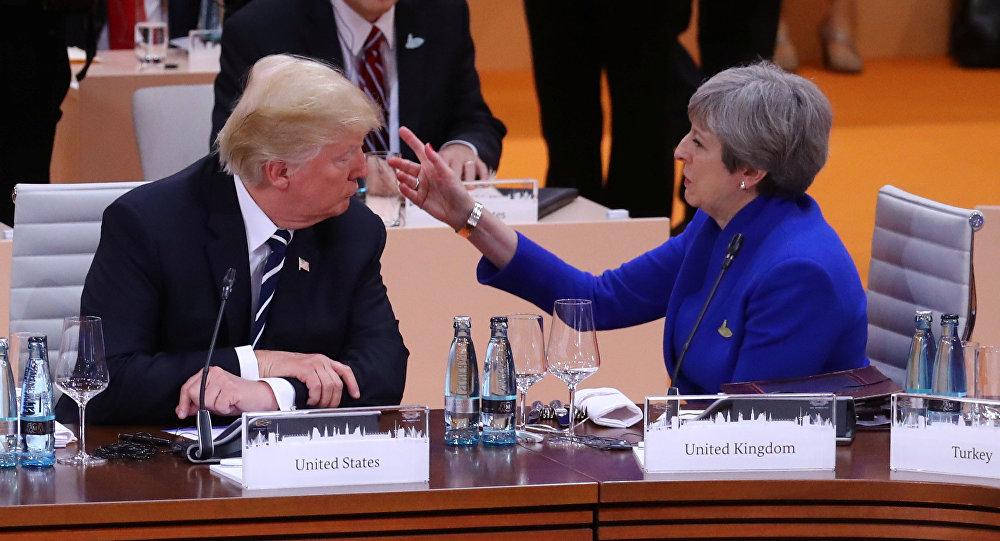 El presidente de EEUU, Donald Trump, y la primera ministra del Reino Unido, Theresa May
