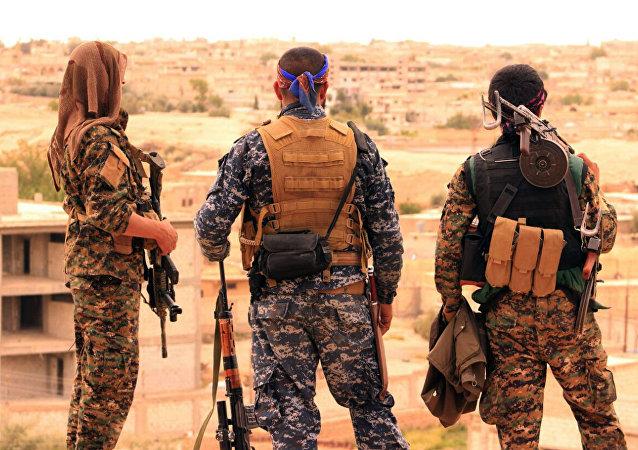 Soldados de las Fuerzas Democráticas Sirias (archivo)