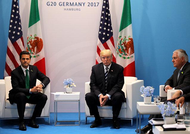 El presidente de Mexico Enrique Peña Nieto y el presidente de EEUU, Donald Trump