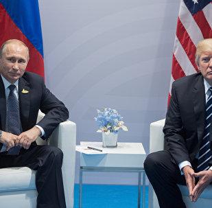 Vladímir Putin, presidente de Rusia, y su homólogo norteamericano, Donald Trump