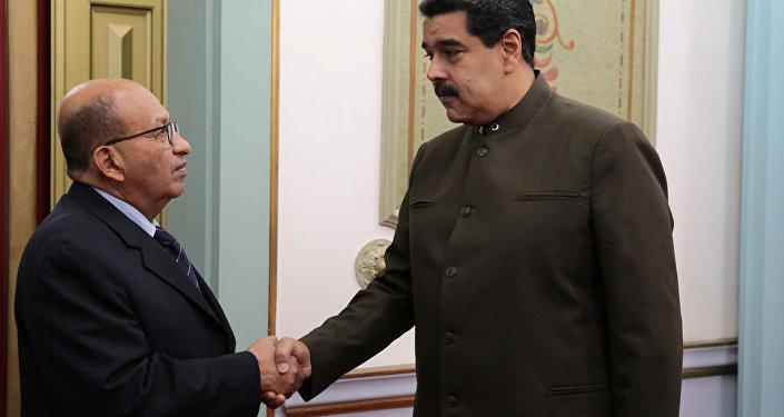 Contralor general, Manuel Galindo y presidente de Venezuela, Nicolás Maduro