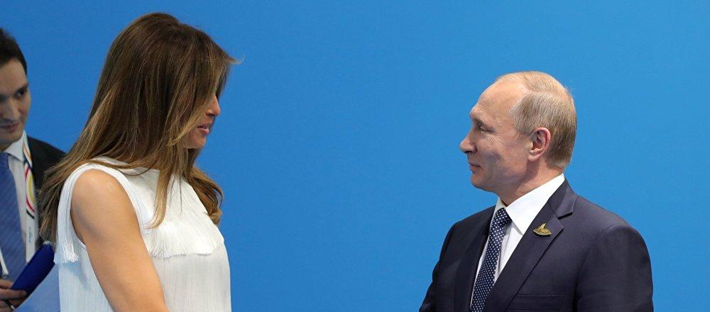 Vladímir Putin y Melania Trump