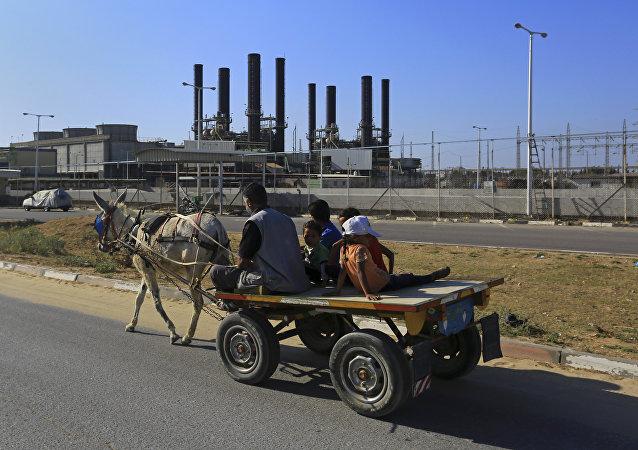 La planta Nusseirat en la Franja de Gaza.