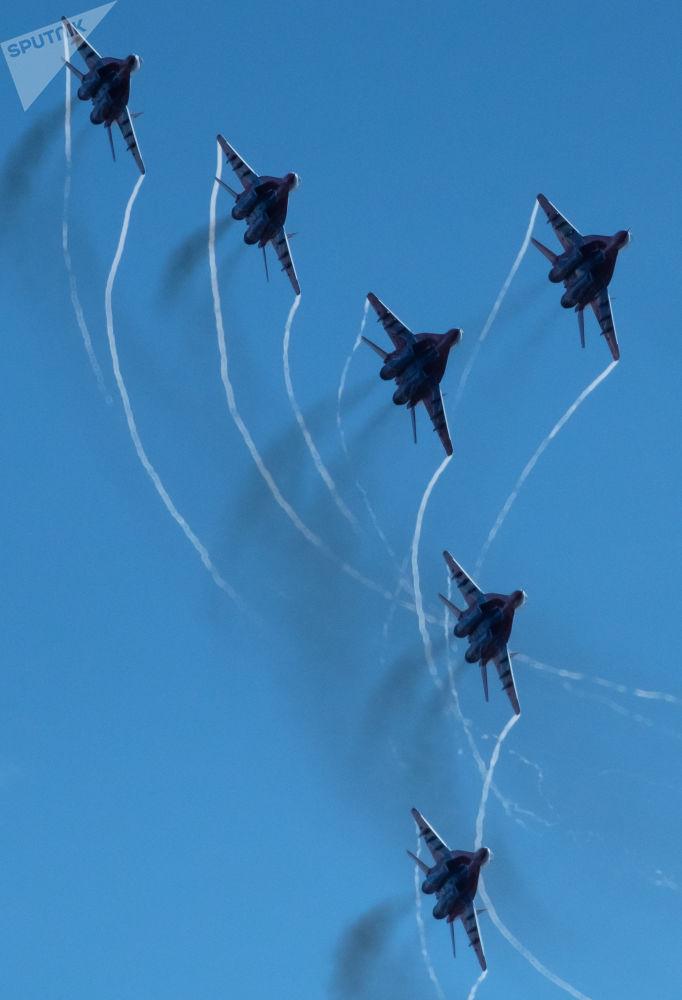 Se cumplen 105 años de las Fuerzas Aeroespaciales de Rusia en San Petersburgo