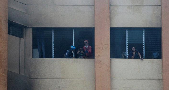 Incendio en el edificio del Ministerio de Hacienda de El Salvador