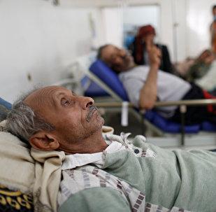Enfermos de cólera en Yemen (archivo)