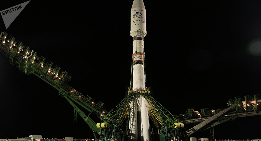Пуск ракеты Союз-2.1а с метеоспутником MetOp-B