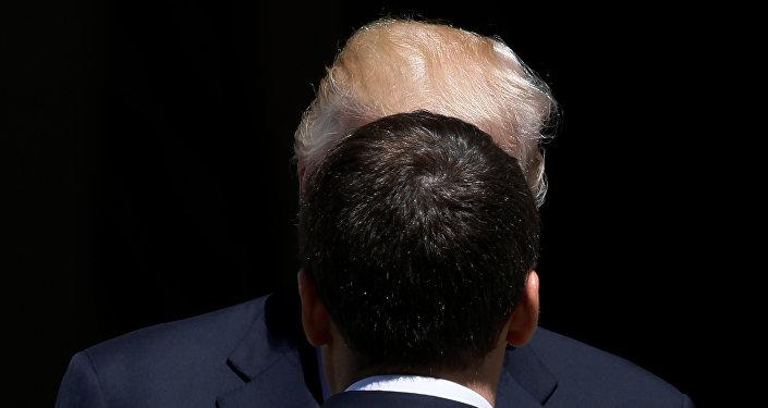 Donald Trump, presidente de EEUU y Emmanuel Macron, presidente de Francia
