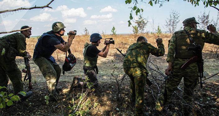 Periodistas en Ucrania (archivo)