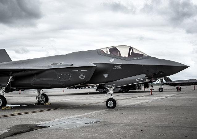 Un caza estadounidense F-35 (imagen referencial)