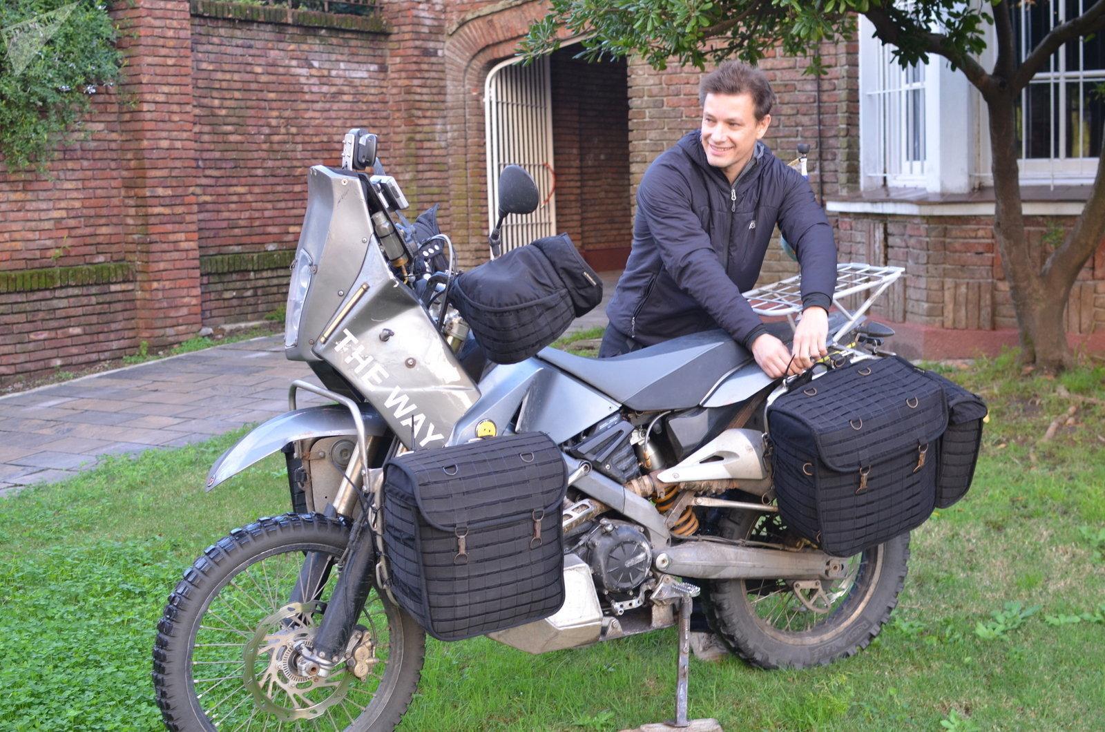 El viajero ruso Oleg Jaritónov