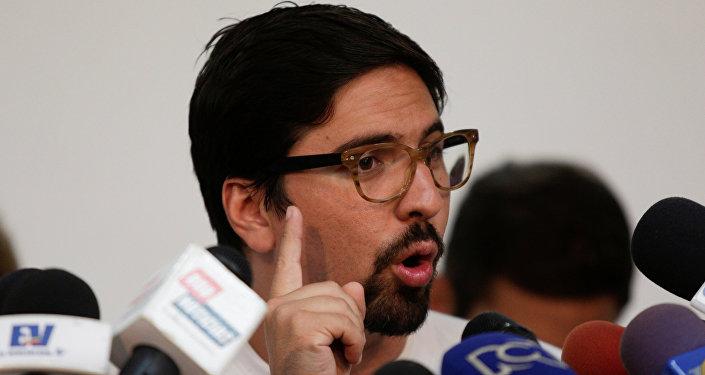 Freddy Guevara, coordinador del partido Voluntad Popular