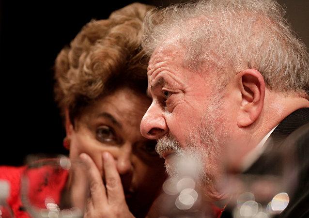 Expresidenta de Brasil, Dilma Rousseff, y expresidente del país, Luiz Inácio Lula da Silva