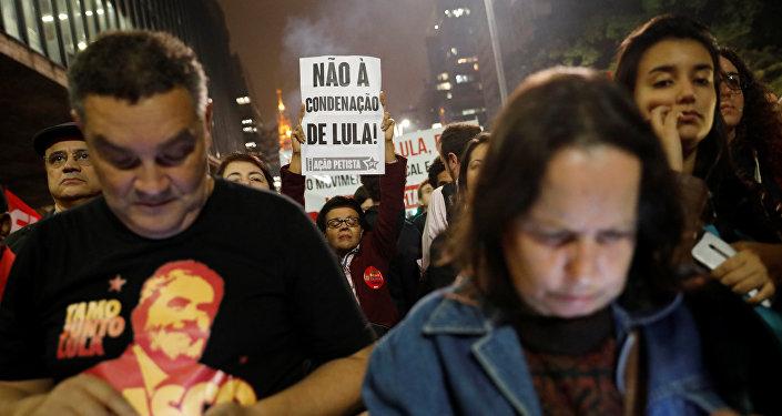 Partidarios de expresidente brasileño Luiz Inácio Lula da Silva