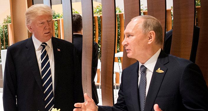 El presidente de EEUU, Donald Trump, y el presidente de Rusia, Vladímir Putin