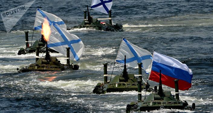 Las celebraciones del día de la Armada de Rusia.