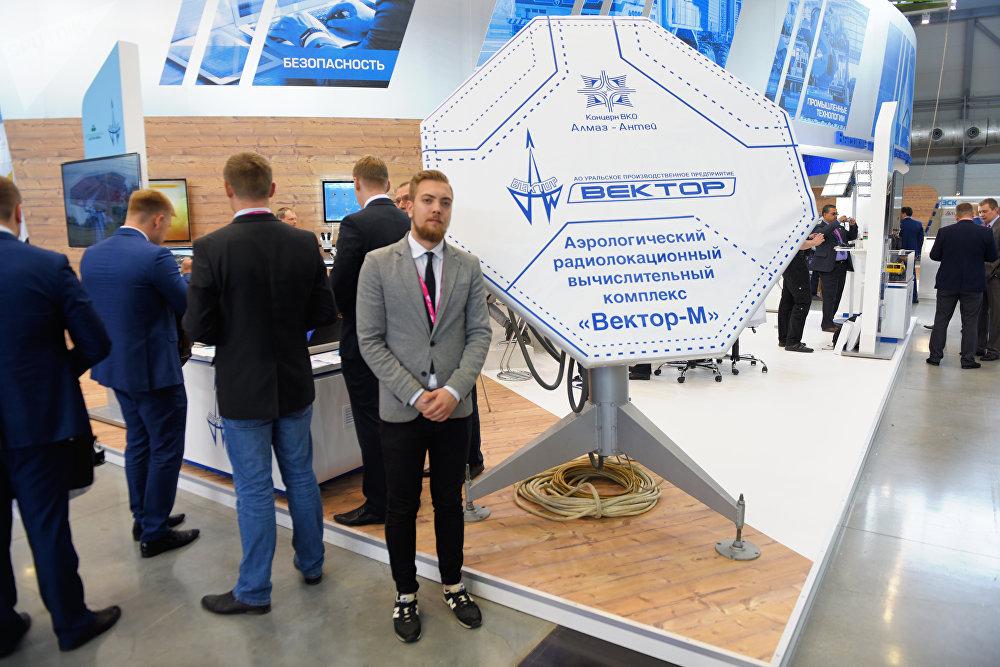 Radar aerológico Vector-M producido por la compañía Vector, del consorcio Almaz-Antey.