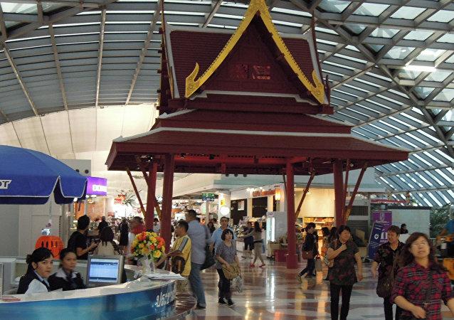El aeropuerto internacional de Suvarnabhumi en Bangkok