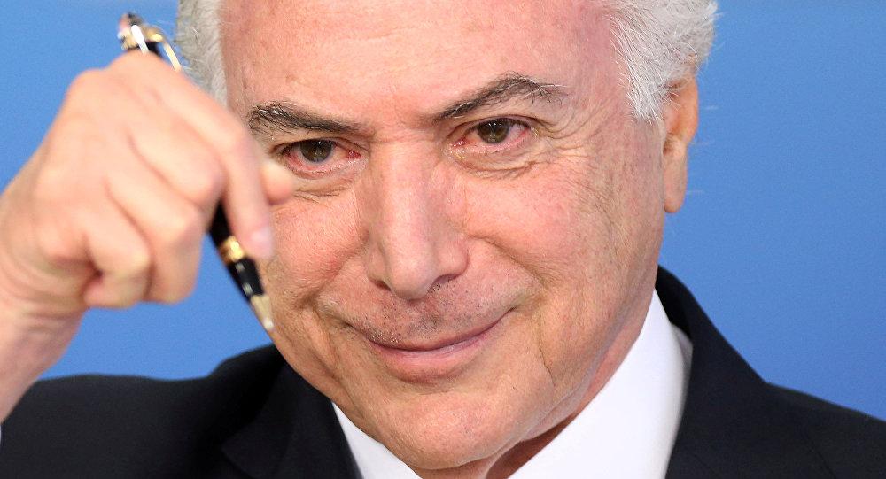 Michel Temer, presidente de Brasil (achivo)