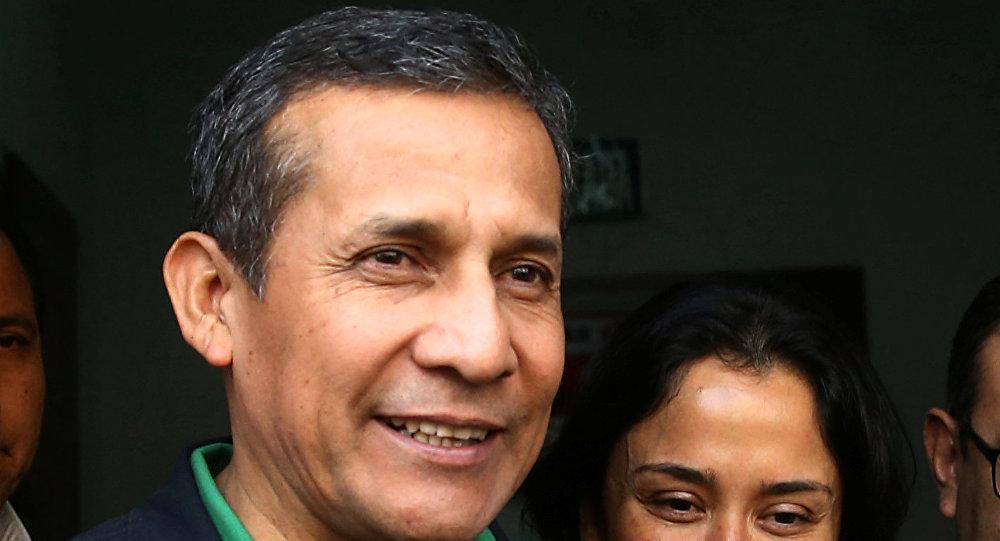 El expresidente de Perú Ollanta Humala y su mujer Nadine Heredia (archivo)