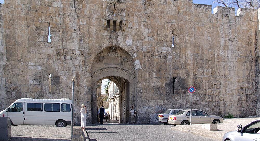 Puerta de los Leones en Jerusalén