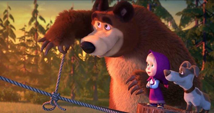 'Masha y el Oso', una popular serie rusa de dibujos animados