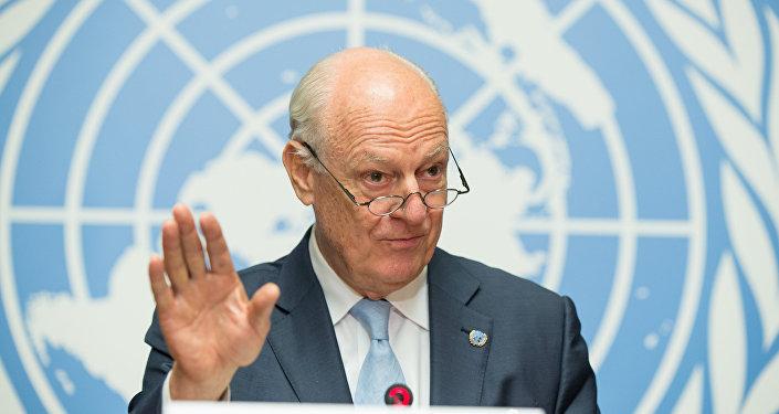 Staffan de Mistura, el enviado de la ONU para Siria